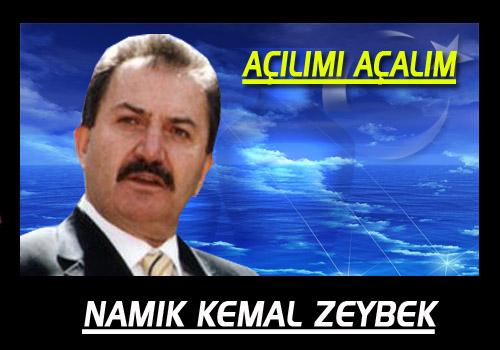Namık Kemal Zeybek Kime Hizmet Ediyor...