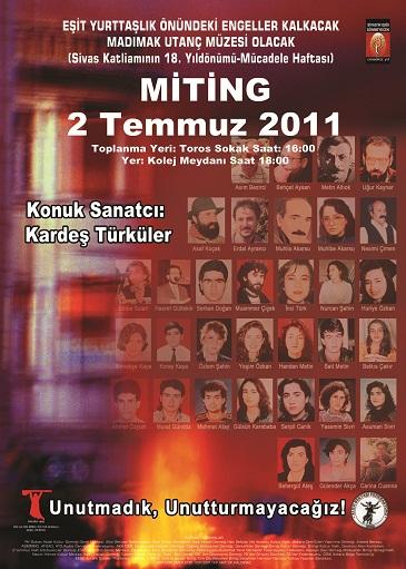 2 TEMMUZ 2011 ANMA PROGRAMI - ANKARA