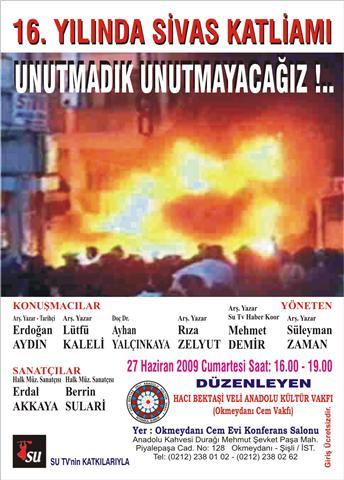 16. Yılında Sivas Katliamını Unutmadık Unutturmayacağız