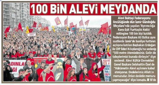 Basında 6 Mart İzmir Büyük Alevi Mitingi