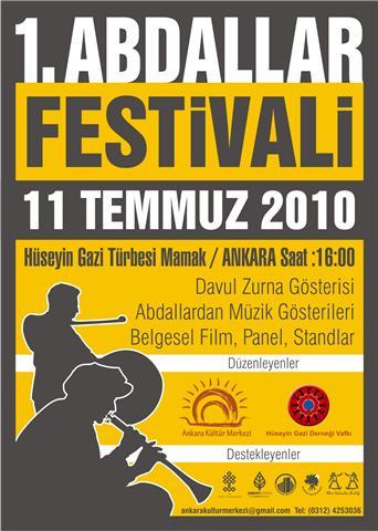 """Ankara'da """"1. ABDALLAR FESTİVALİ"""" yapılıyor!"""