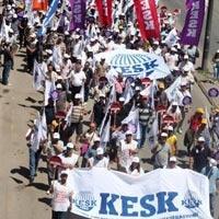 KESK'ten Toplu Sözleşme Hakkı için eylem