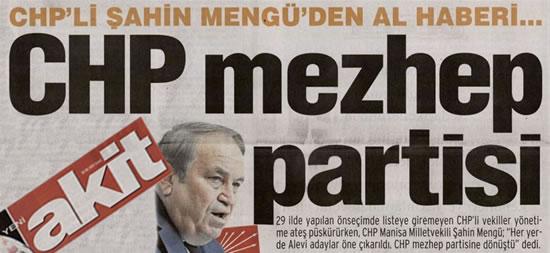 """Mengü: """"CHP mezhep partisine dönüştü"""""""