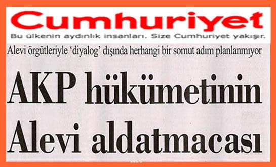 AKP Hükümetinin Alevi aldatmacası