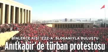 Anıtkabir de türban protestosu