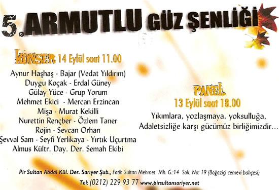Armutlu'da sonbahar festivalle başlıyor