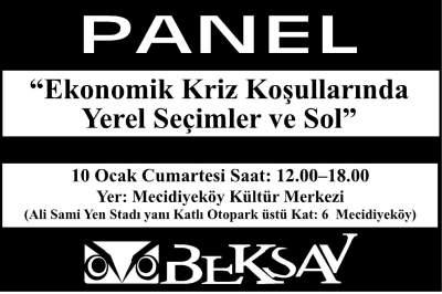 """BEKSAV """"Kriz, seçimler ve sol"""" paneli düzenleyecek"""
