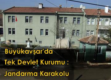 Büyükavşar'da tek kamu kurumu kaldı: Jandarma Karakolu