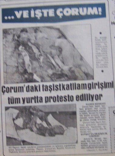 Çorum Katliamı ( Mayıs - Temmuz 1980 )