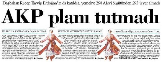 AKP hükümetinin Alevi planı