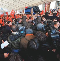 AKP'lilerden Gazetecilere Dayak