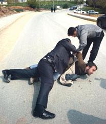 Bakana protestoya sert müdahale