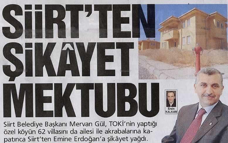 Siirtin Başkanı, 62 villalık özel köyünü TOKİ ye yaptırdı
