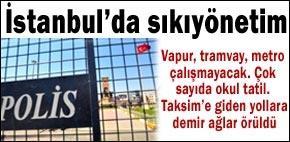 İstanbul'da sıkıyönetim