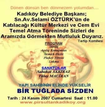 PSAKD Kadıköy Cem Evi Temel Atma Töreni