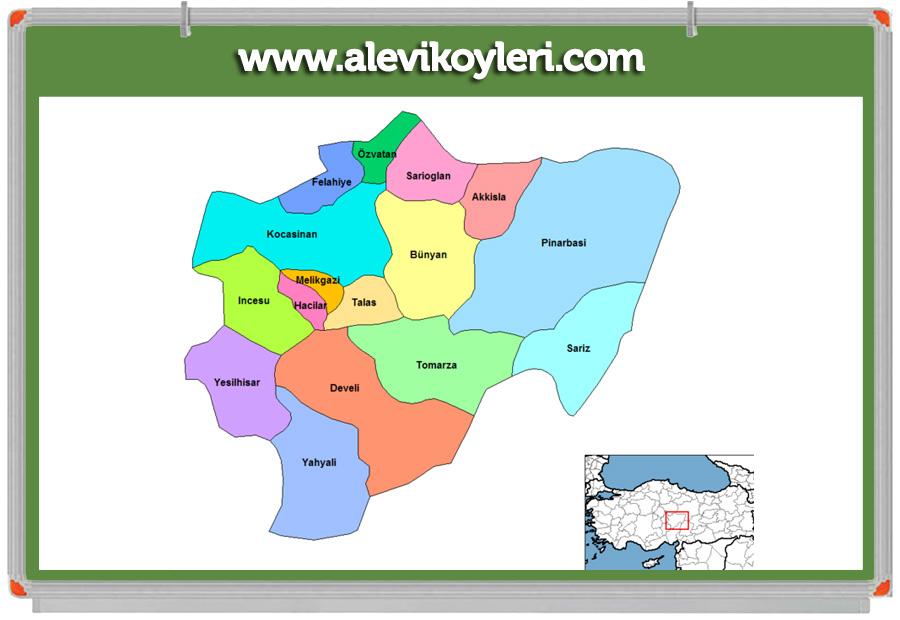 Kayseri Kocasinan Alevi Köyleri