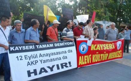Kayseri Alevi Kültür Merkezi'nden Referanduma 'Hayır'