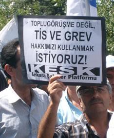 KESK, AKP'ye yürüdü: Haklarımız için mücadele ediyoruz