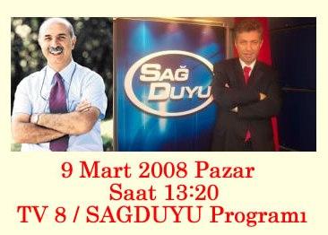 Kazım GENÇ TV 8'de Sağduyu Programının Konuğu