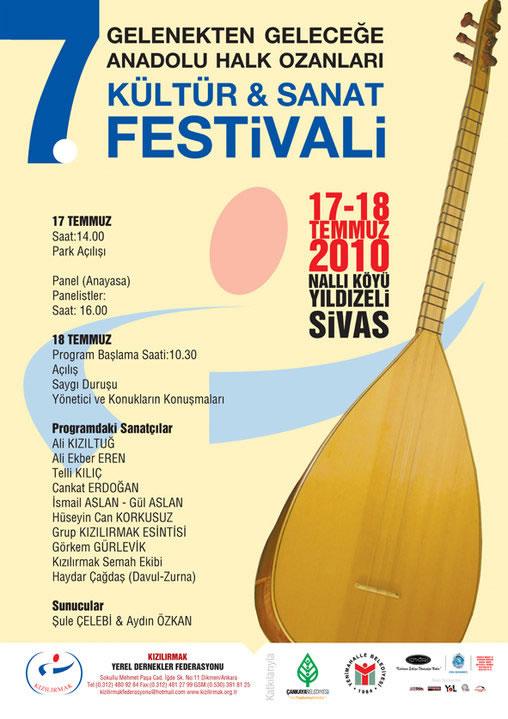 7. Gelenekten Geleceğe Anadolu Halk Ozanları Kültür Sanat Festivali