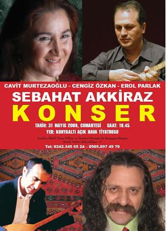 Antalya'da Sabahat Akkiraz Konseri