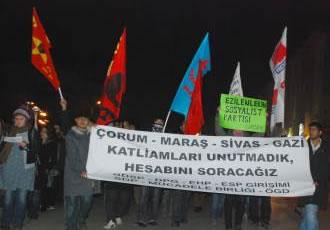 Maraş katliamı Eskişehir'de lanetlendi