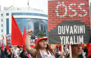 Liselilerden ÖSS protestosu