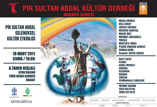 Ankara'da Pir Sultan Abdal Geleneksel Kültür Etkinliği