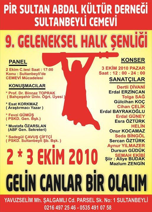 PSAKD Sultanbeyli'de 9.Geleneksel Halk Şenliğine Davet...