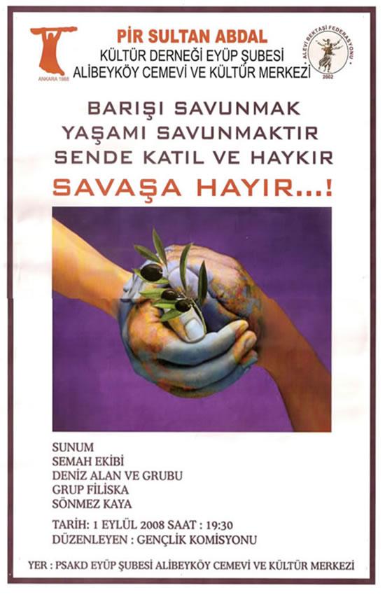 Alibeyköy'de 1 Eylül Dünya Barış Günü Etkinliği