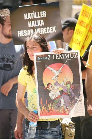 Sivas 2 Temmuz Anma Töreninden Fotoğraflar