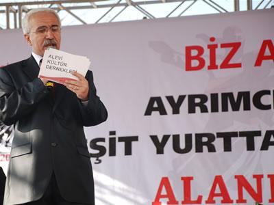 Alevi Kültür Dernekleri Genel Başkanı Tekin Özdil'in Miting Konuşması
