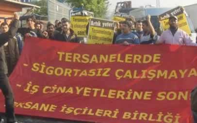 Tuzla'da 'Artık ölmek İstemiyoruz' eylemi