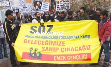 Tunceli'de öğrencilerden AKP'ye protesto