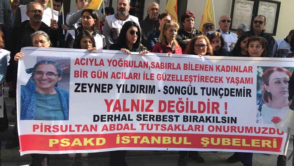 """PSAKD İSTANBUL ŞUBELERİ: """"YAŞASIN KADIN DAYANIŞMASI!"""""""