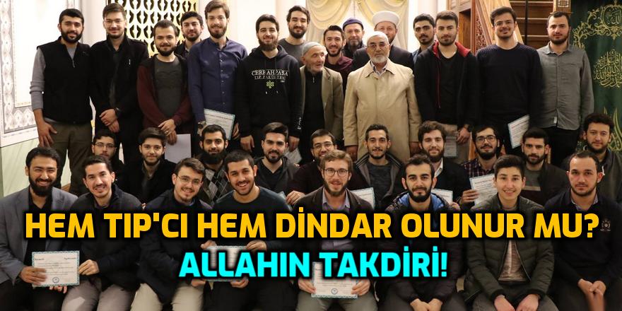 Camide mezuniyet töreni yapan Tıp Fakültesi öğrencileri!