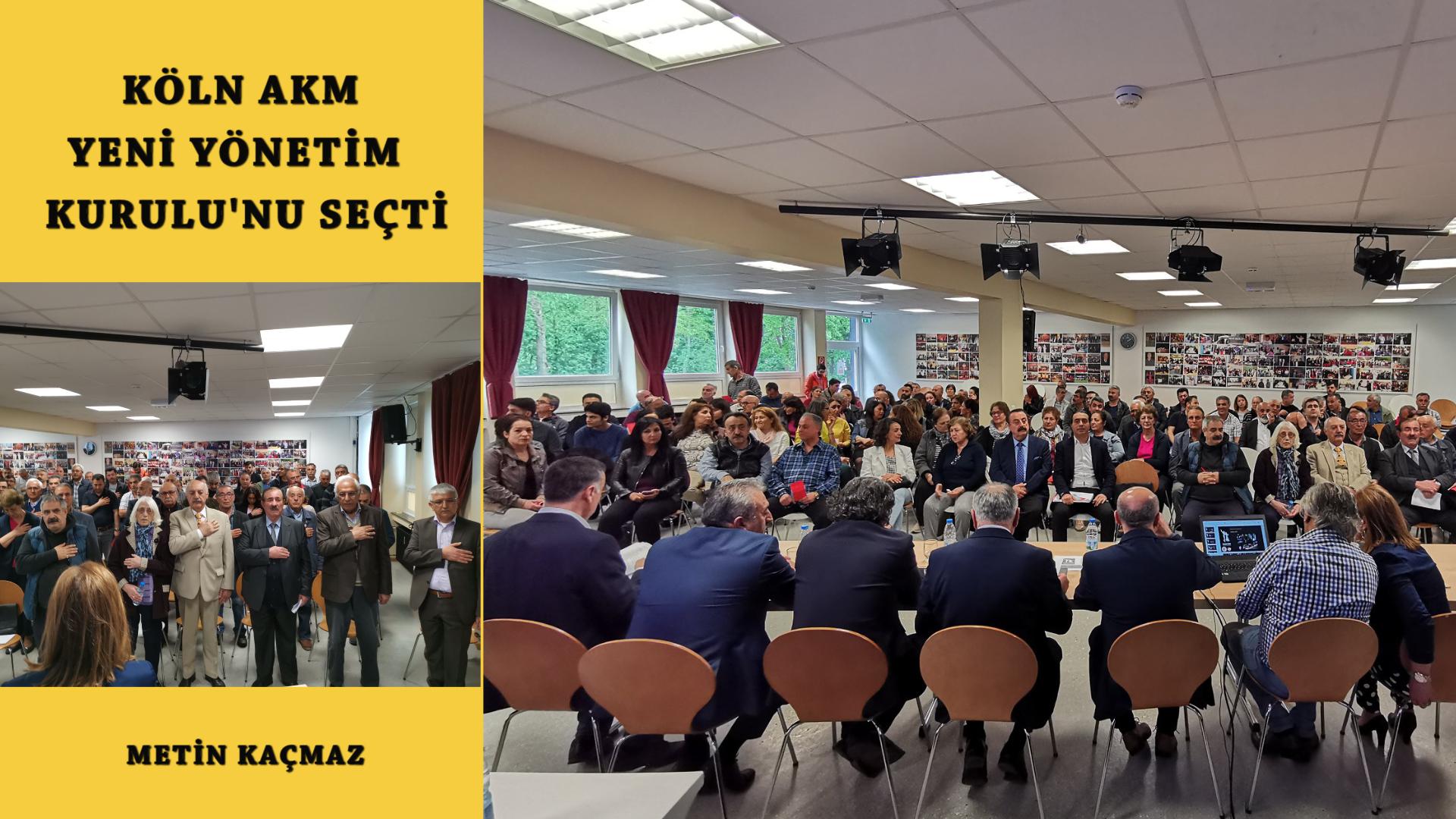 Köln AKM Secimli Olağan Genel Kurulu'nu yaparak yeni yönetimini seçti