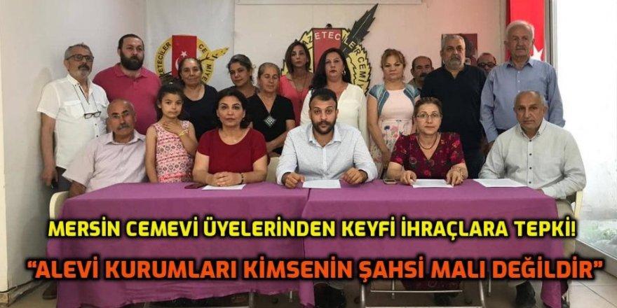 AKD Mersin Şubesi üyelerinden keyfi ihraçlara tepki!