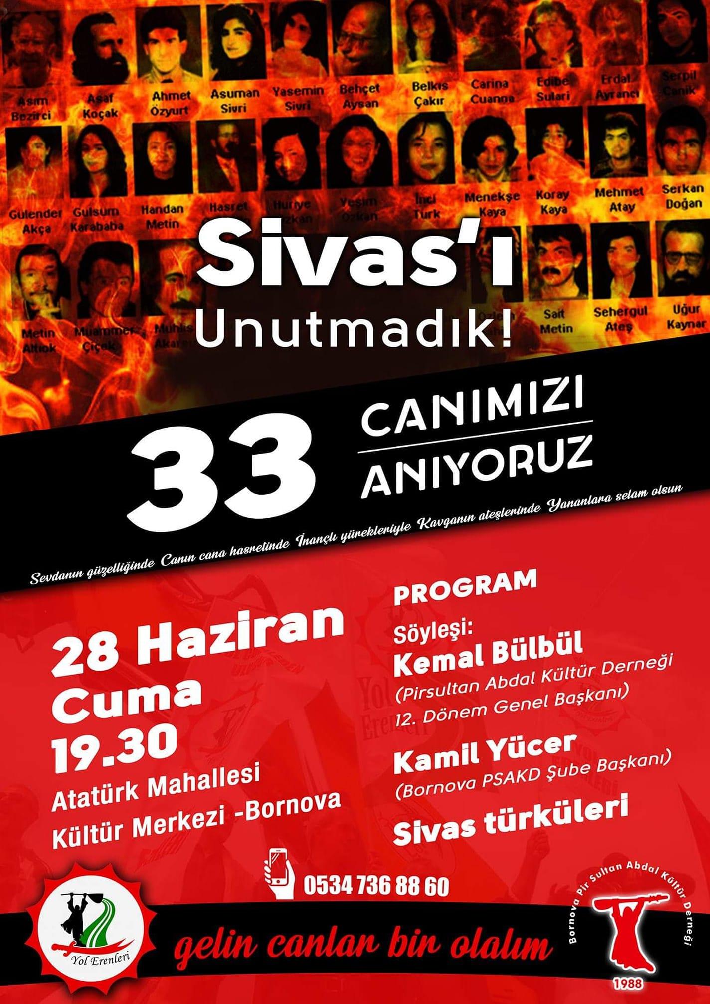 İZMİR / BORNOVA'DA 33 CANIMIZI ANIYORUZ!