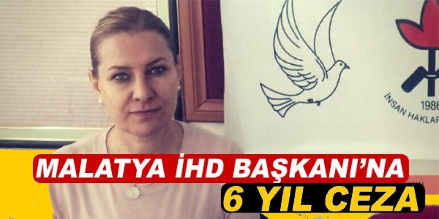 Malatya İHD Başkanı Gönül Öztürkoğlu'na 6 yıl hapis cezası