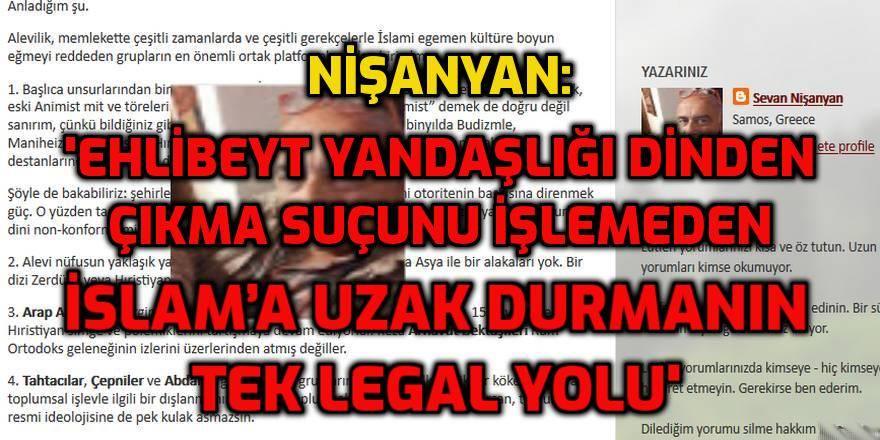 Ermeni Sevan Nişanyan'ın 'Alevilere dair bir not' yazısı