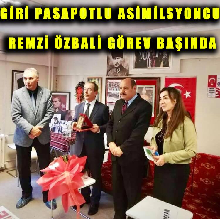 Gri Pasaportlu asimilasyoncu Remzi Özbali görev basında