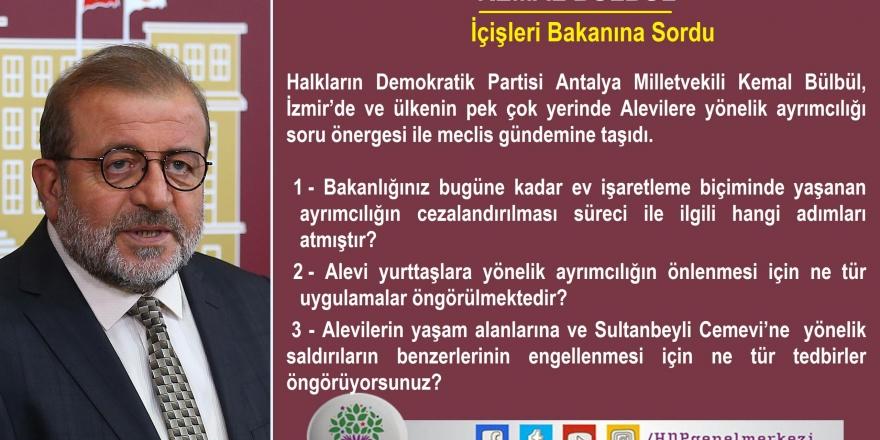 HDP'li Bülbül, Alevilere yönelik hak ihlallerini meclise taşıdı