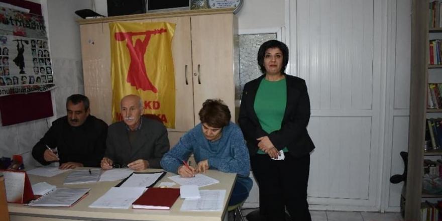 PSAKD Malatya Şube başkanlığına yeniden Latife Ulutaş seçildi