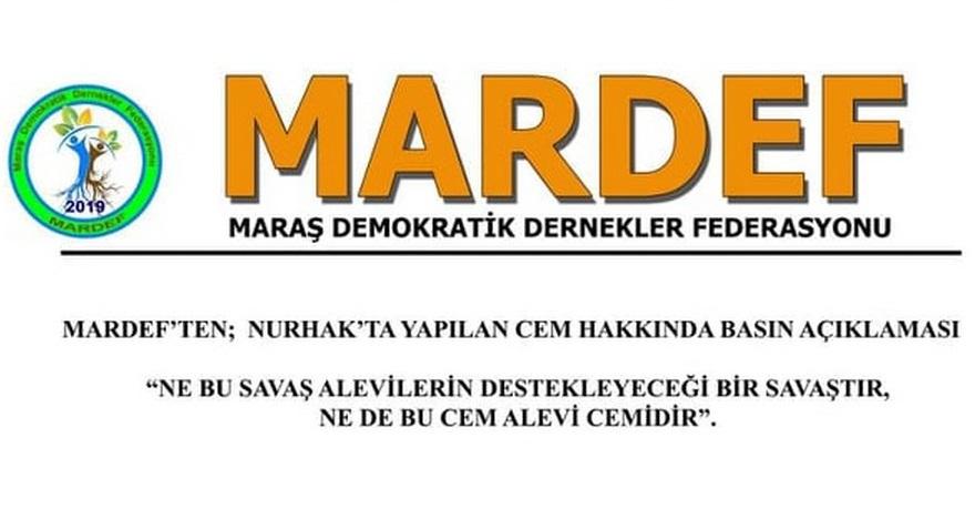 MARDEF Nurhak'taki 'Savaş Cem'i' hakkında basın açıklaması yaptı