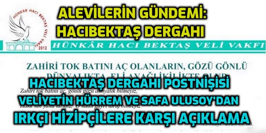 """Hacı Bektaş Dergahı """"Irkçı Haramzadeler Meclisi""""ne karşı basın açıklaması yayınladı"""