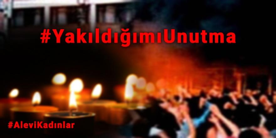 Alevi kadınlar, Sivas'ta yakılarak katledilen kadınlar için saat 21.00'de Twitter'da