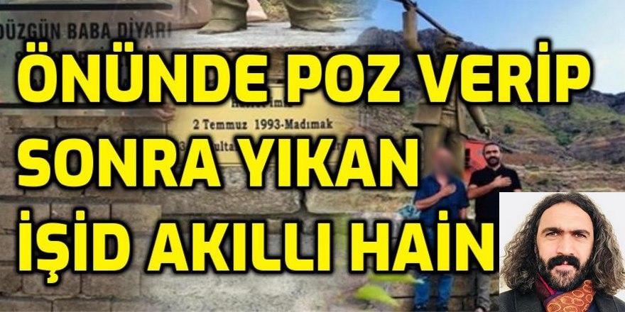 İŞTE Hasret Gültekin anıtı önünde poz verip sonra yıkan Hınzır paşa Sinan Kırmızıçiçek!