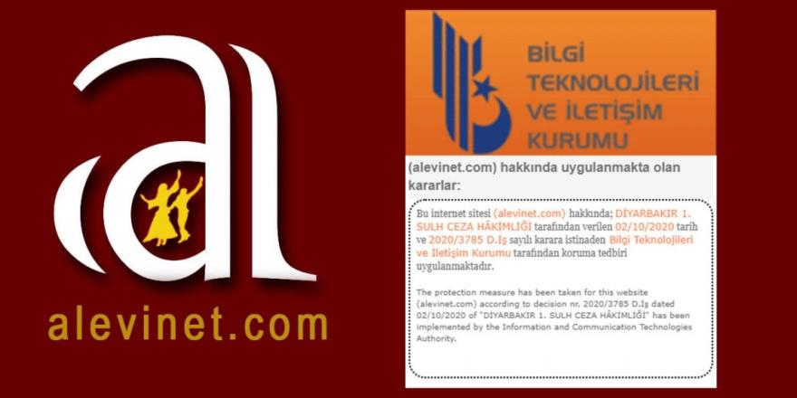 BTK'den Alevinet haber sitesine erişim engeli