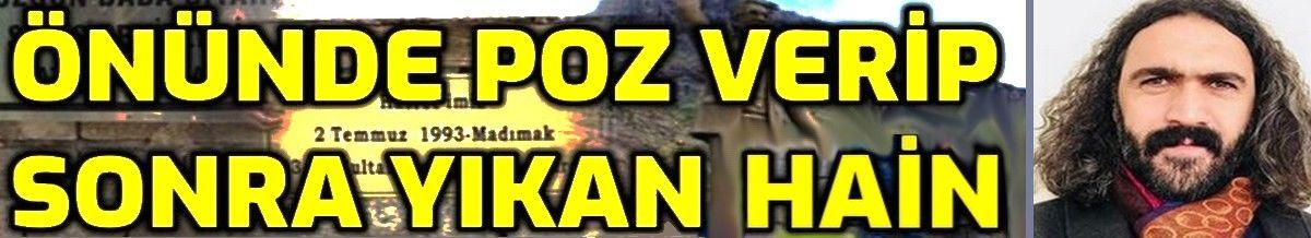 İŞTE Hasret Gültekin anıtı önünde poz verip sonra yıkan Hınzır paşa: Sinan Kırmızıçiçek!